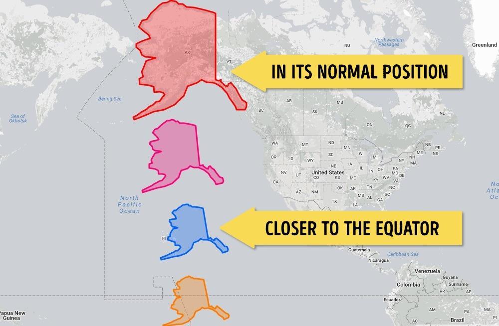 Alaska Harita Kıyaslama