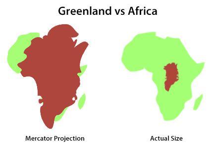Grönland Afrika Karşılaştırması
