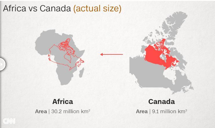 Kanada Afrika Gerçek Görünüm